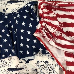 Other - USA flag bathing suit